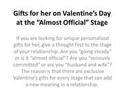 Gifts for her on Valentine's Day at the