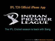 IPL T20 Official iPhone App
