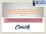 Silver Bullet Coaching Process for Small Businesses by SBCA