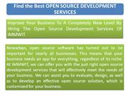 Find the Best Open Source Development Services in Delhi
