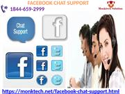 Facebook Chat Support-offers techniques queries 1844-659-2999