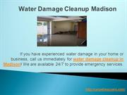 Water Damage Cleanup Madison