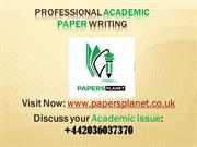 Professional Academic Paper Writing