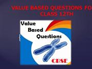 Value Based Questions