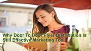 Door To Door Flyer Distribution | Effective Marketing Tool