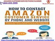 Get a solution Amazon customer service phone number 1844.659.2999