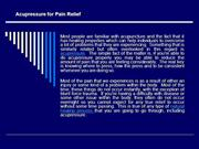 Acupressure for Pain Relief