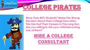 Hire A College Consultant - College Pirates