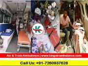 King Air Ambulance Services  from Patna to Delhi,India with Best Medic