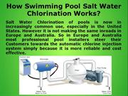 How Swimming Pool Salt Water Chlorination Works_