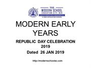 Modern Early Years Deepali Republic Day Celebration 2019
