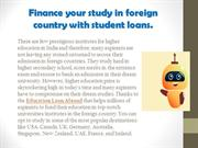 Finance your study in foreign country with student loans