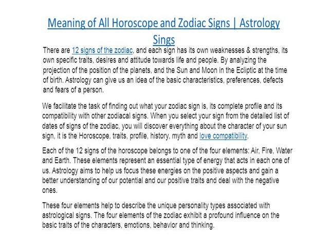 astrology meaning of signs