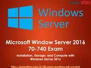 Microsoft MCSA Windows Server 2016 70-740 Exam Dumps