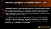 Consider Recycling and Keep the Environment Clean