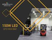 Commercial 150w LED UFO High Bay Lights - USA