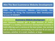 Hire the Best Ecommerce Website Development Company in Delhi