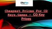 Cheapest Prices For CD Keys, Games – CD Key Prices