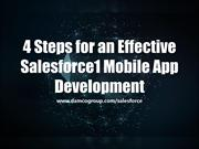 4 Steps for an Effective Salesforce1 Mobile App Development