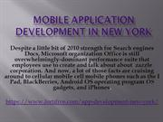 Mobile application development in New York