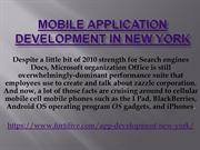 Mobile application development in New York1