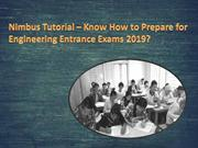 Prepare for Engineering Entrance Exams by Nimbus Tutorial