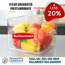 food storage containers-Clear Graduated Polycarbonate-Brennans Caterwo