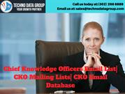 Chief Knowledge Officers Email List_ CKO Mailing Lists_ CKO Email Data