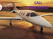 Low Rate and Top Medical King Air Ambulance Services from Ranchi to De