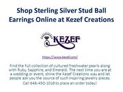 Shop Sterling Silver Stud Ball Earrings Online at Kezef Creations