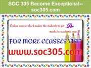 SOC 305 Become Exceptional--soc305.com