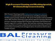 High Pressure Cleaning and Washing Ipswich, Brisbane