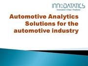 Automotive Analytics Solutions for the Automotive Industry