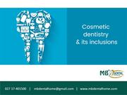 Cosmetic Dentistry and Its Inclusions