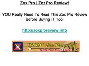 Zox Pro - Zox Pro Review