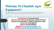 Best Agricultural Sprayer from Chandak Agro Equipment's
