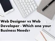 Web Designer vs Web Developer - Which one your Business Needs