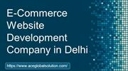 E-Commerce Website Development Company in Delhi