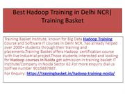 Best Hadoop Training Institute In Noida Training Basket