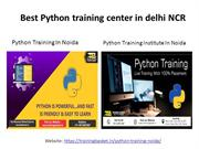 Best python training institute in delhi Ncr