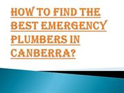 Get the Best Emergency Plumbers in Canberra