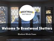 Brentwood Shutters Presentations