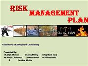 hospital risk management plan by MHM