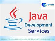 Cuetin – Java Development | Best Java Development Services in India