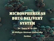 microspheres as drug delivery system