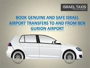 Book Genuine And Safe Israel Airport Transfers To And From Ben Gurion