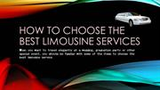 How to choose the best limousine services