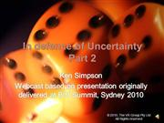 Uncertainty Webcast