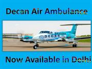 Get Modern ICU Air Ambulance in Delhi by Decan Air Ambulance Services