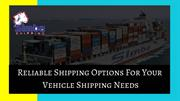 Slide about Car Shipping Services - Simba Shipping